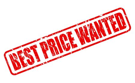 expect: BEST PRICE WANTED RED STAMP TEXT ON WHITE