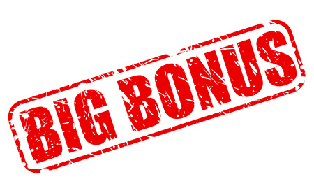 bonus: BIG BONUS RED STAMP TEXT ON WHITE Illustration