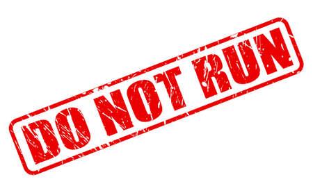no correr: NO CORRA IMPR ROJO EN BLANCO