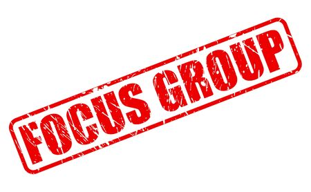 focus group: FOCUS GROUP RED STAMP TEXT ON WHITE
