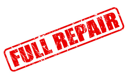 refit: FULL REPAIR RED STAMP TEXT ON WHITE