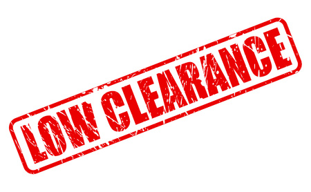 liquidation: LOW CLEARANCE RED STAMP TEXT ON WHITE Illustration