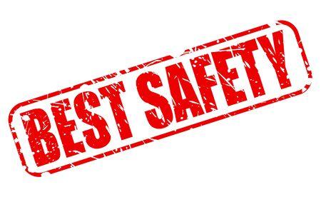 surety: BEST SAFETY RED STAMP TEXT ON WHITE Illustration