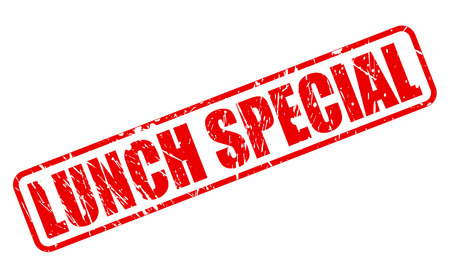 LUNCH SPECIAL RED STAMP TEXT ON WHITE Illustration