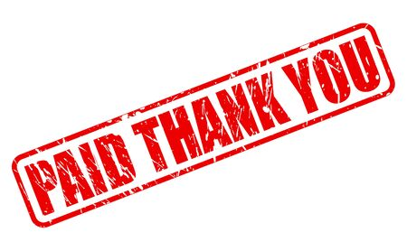 paid stamp: PAID THANK YOU stamp text on white