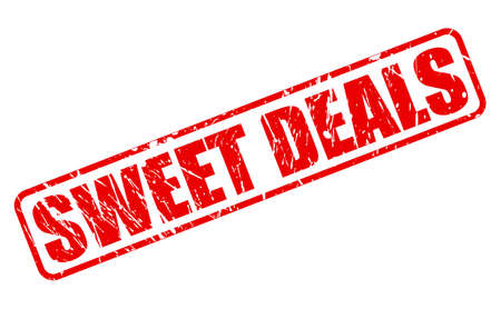 dealings: SWEET DEALS ON stamp text on white