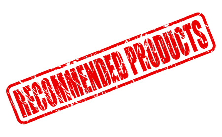 commodity: RECOMMENDED PRODUCTS red stamp text on white