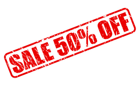 treason: SALE 50 PERCENT OFF red stamp text on white Illustration