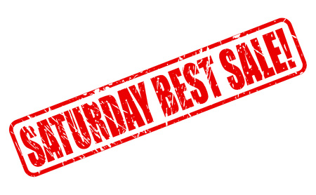 treason: SATURDAY BEST SALE red stamp text on white