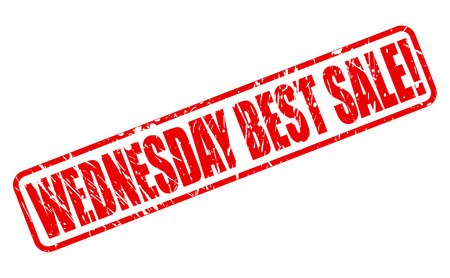 wednesday: WEDNESDAY BEST SALE red stamp text on white