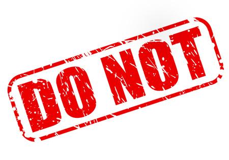 do: DO NOT on stamp text on white Illustration