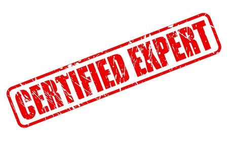 proficient: CERTIFIED EXPERT red stamp text on white Illustration