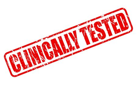 tested: CLINICALLY TESTED red stamp text on white