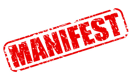 MANIFEST red stamp text on white