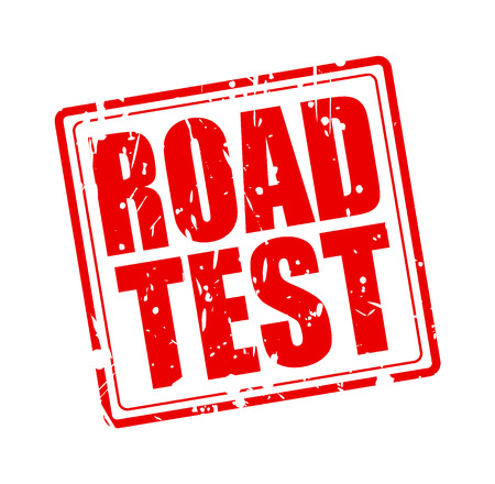 highroad: ROAD TEST red stamp text on white