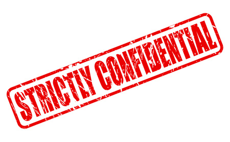 confidential: STRICTLY CONFIDENTIAL red stamp text on white