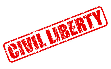CIVIL LIBERTY red stamp text on white
