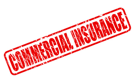 COMMERCIAL INSURANCE red stamp text on white