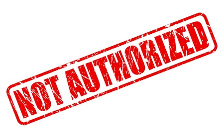 authoritative: NOT AUTHORIZED red stamp text on white