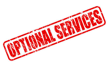 optional: OPTIONAL SERVICES red stamp text on white Illustration