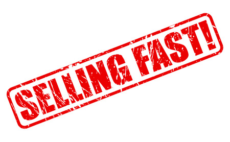 quickly: SELLING FAST red stamp text on white Illustration