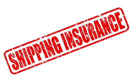 ensuring: SHIPPING INSURANCE red stamp text on white