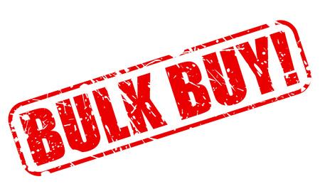 bulk: BULK BUY red stamp text on white Illustration