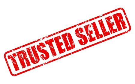 seller: TRUSTED SELLER red stamp text on white Illustration