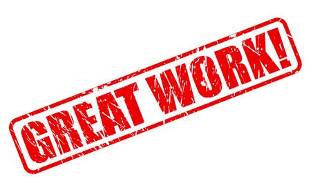 predecessor: GREAT WORK red stamp text on white Illustration