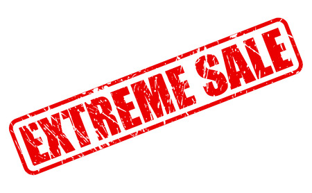 furthest: EXTREME SALE red stamp text on white