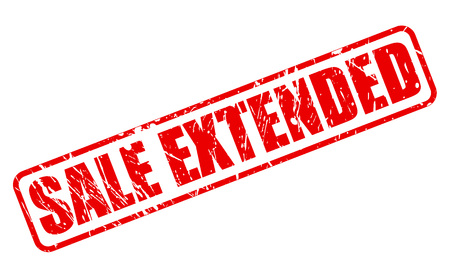 SALE EXTENDED red stamp text on white