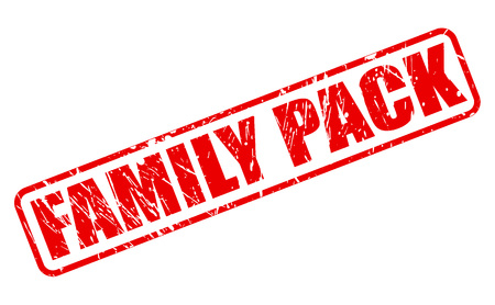 parentage: FAMILY PACK red stamp text on white