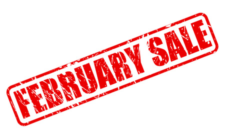 treason: FEBRUARY SALE red stamp text on white Illustration