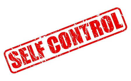 self control: SELF CONTROL red stamp text on white