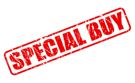 especial: SPECIAL BUY red stamp text on white