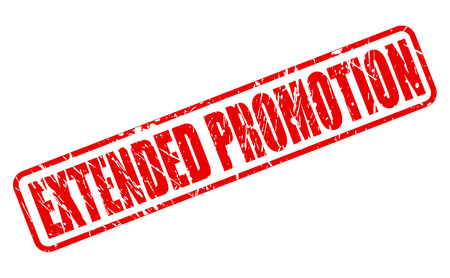 extended: EXTENDED PROMOTION red stamp text on white