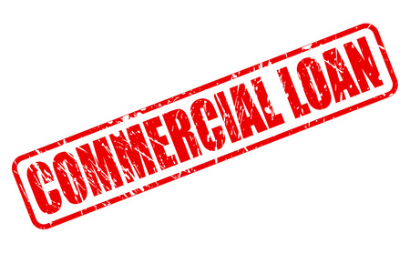 lending: COMMERCIAL LOAN red stamp text on white