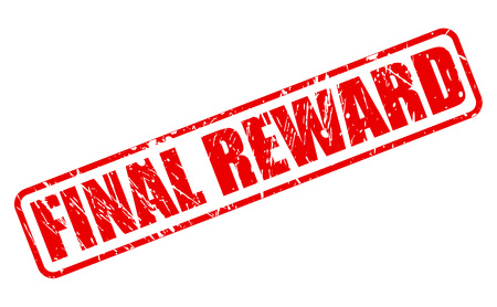 recompense: FINAL REWARD red stamp text on white