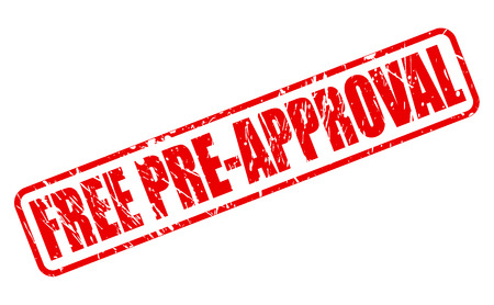 approbation: FREE PRE-APPROVAL red stamp text on white Illustration