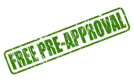 pre approval: FREE PRE-APPROVAL GREEN stamp text on white