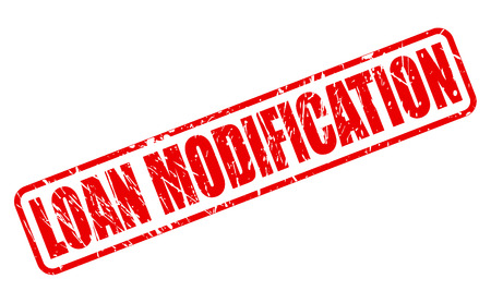 modification: LOAN MODIFICATION red stamp text on white
