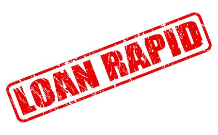 hurried: LOAN RAPID red stamp text on white