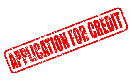 inquiry: APPLICATION FOR CREDIT red stamp text on white Illustration