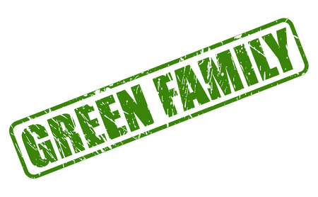 parentage: GREEN FAMILY green stamp text on white Illustration
