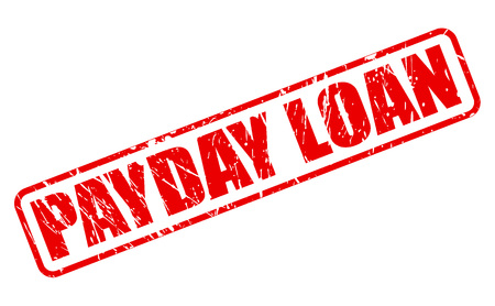 lending: PAYDAY LOAN red stamp text on white Illustration