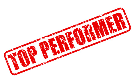 TOP PERFORMER red stamp text on white