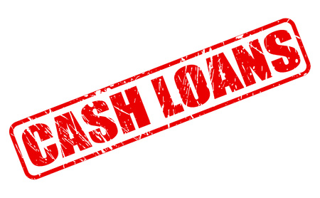loans: CASH LOANS red stamp text on white