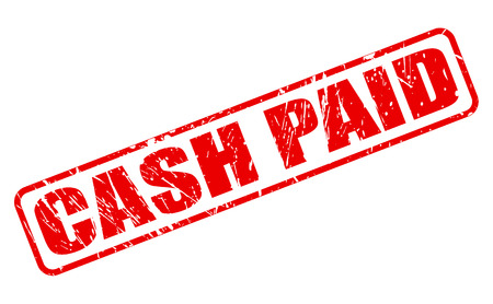 paid: CASH PAID red stamp text on white