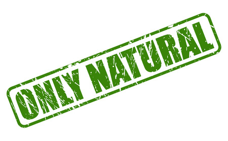 purely: ONLY NATURAL green stamp text on white Illustration