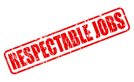 respectable: RESPECTABLE JOBS red stamp text on white